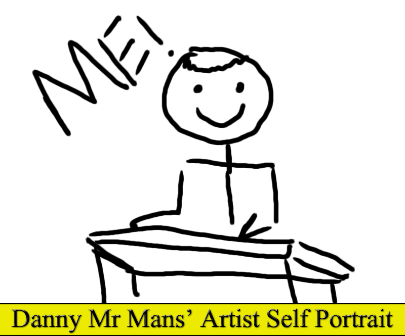 Danny Mr Mans' Artist Self Portrait