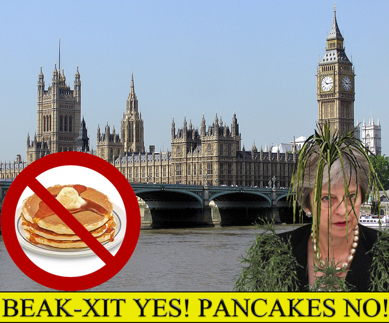 """Pancakes are a foreign abomination upon this nation!"" the Prime Seal Lord seen here, as she Rises from the Tames to lay her demands against breakfast upon Parliament."