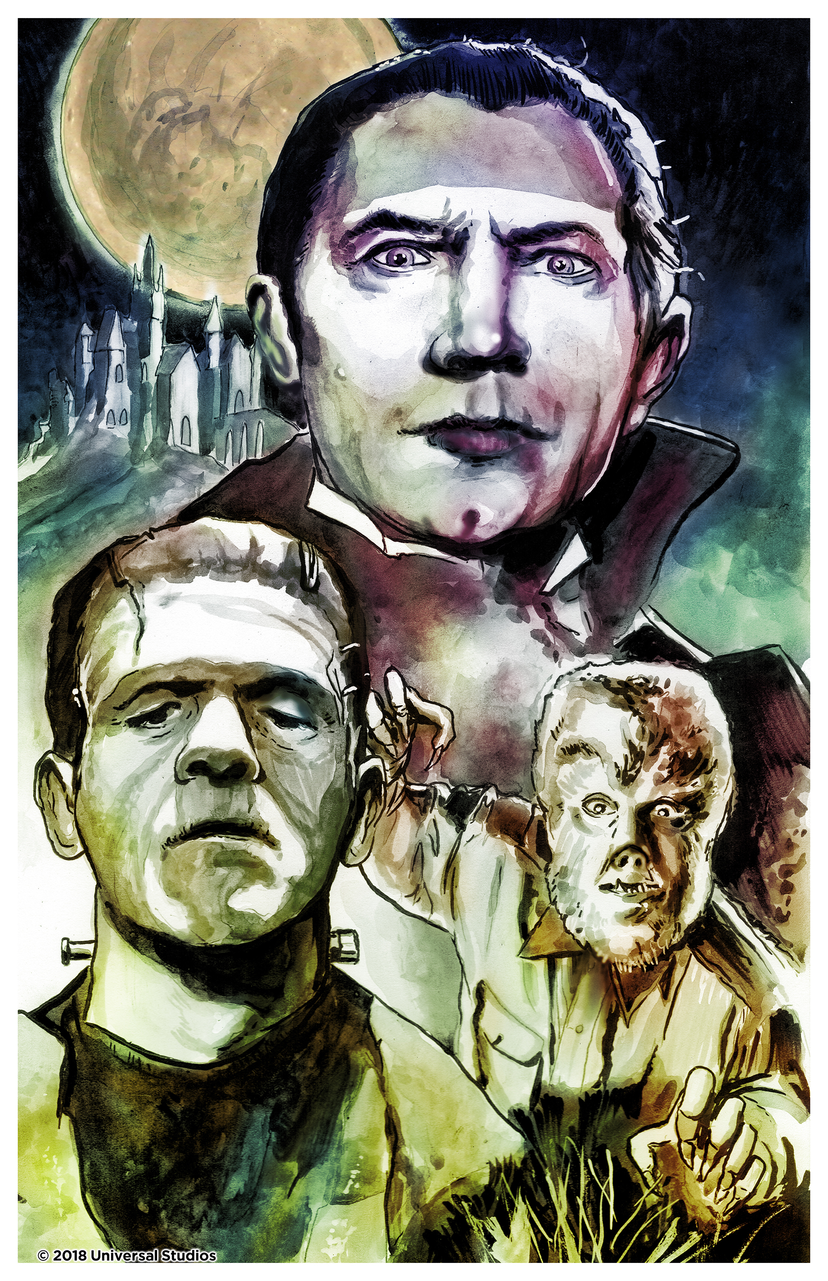 Dan Gorman's Universal Monsters, an 11x17 print!