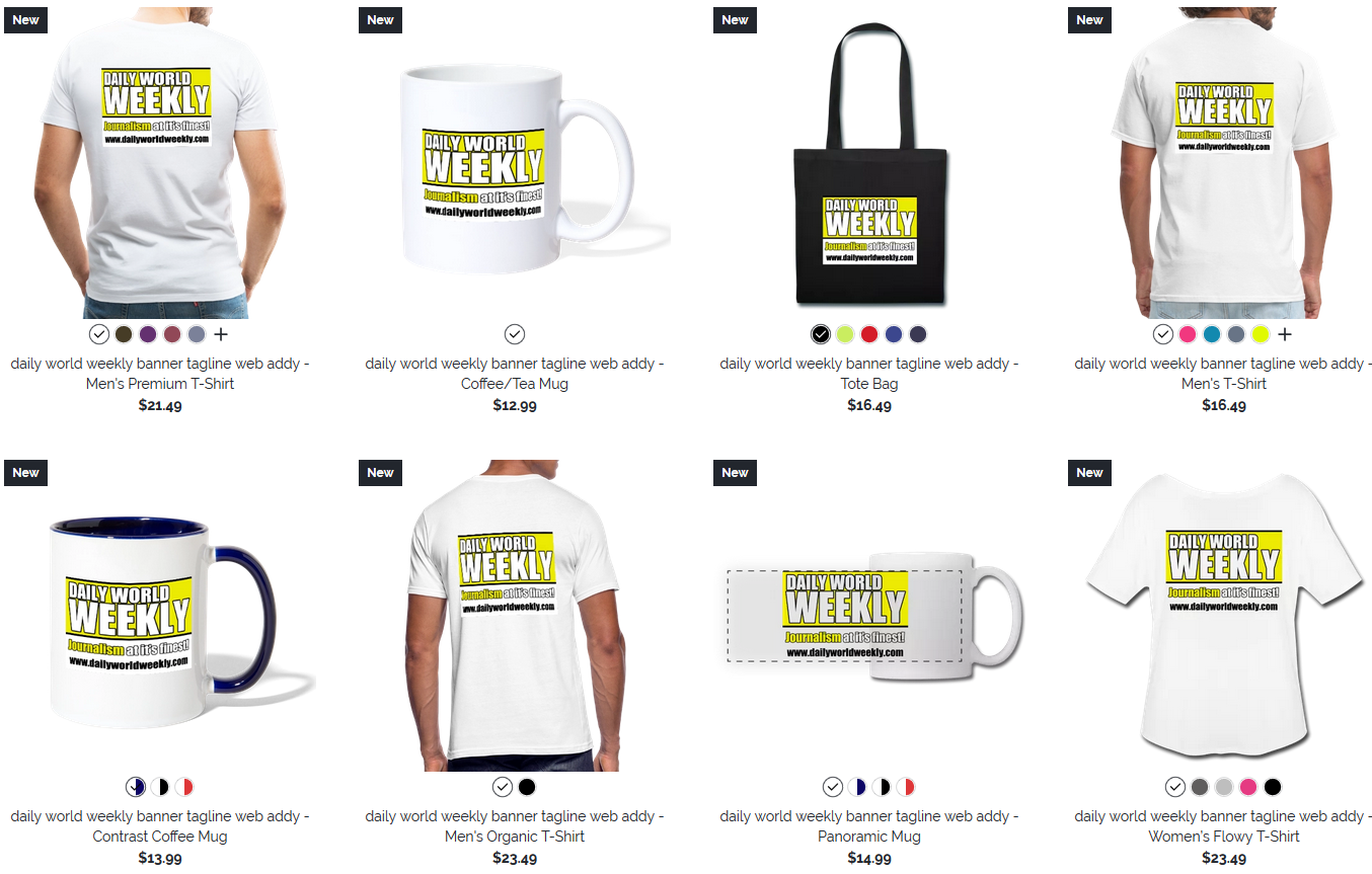 Daily World Weekly on Spreadshirt
